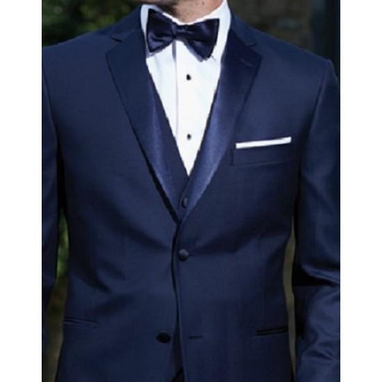 Ike Behar Wing Tip Collar with 1//2 Inch Pleats Tuxedo Shirt