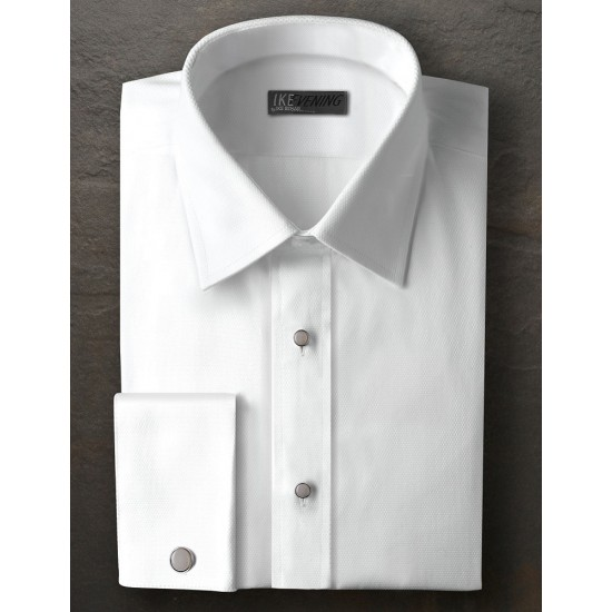 IKE Behar Wing Collar with 1//2 Inch Pleats Tuxedo Shirt