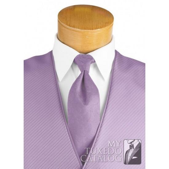 Mens Lavender Purple Diamond Tuxedo Fullback Vest /& Tie Wedding Large Long